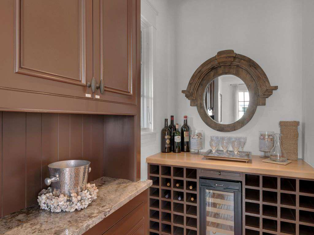 Wine and service bar area