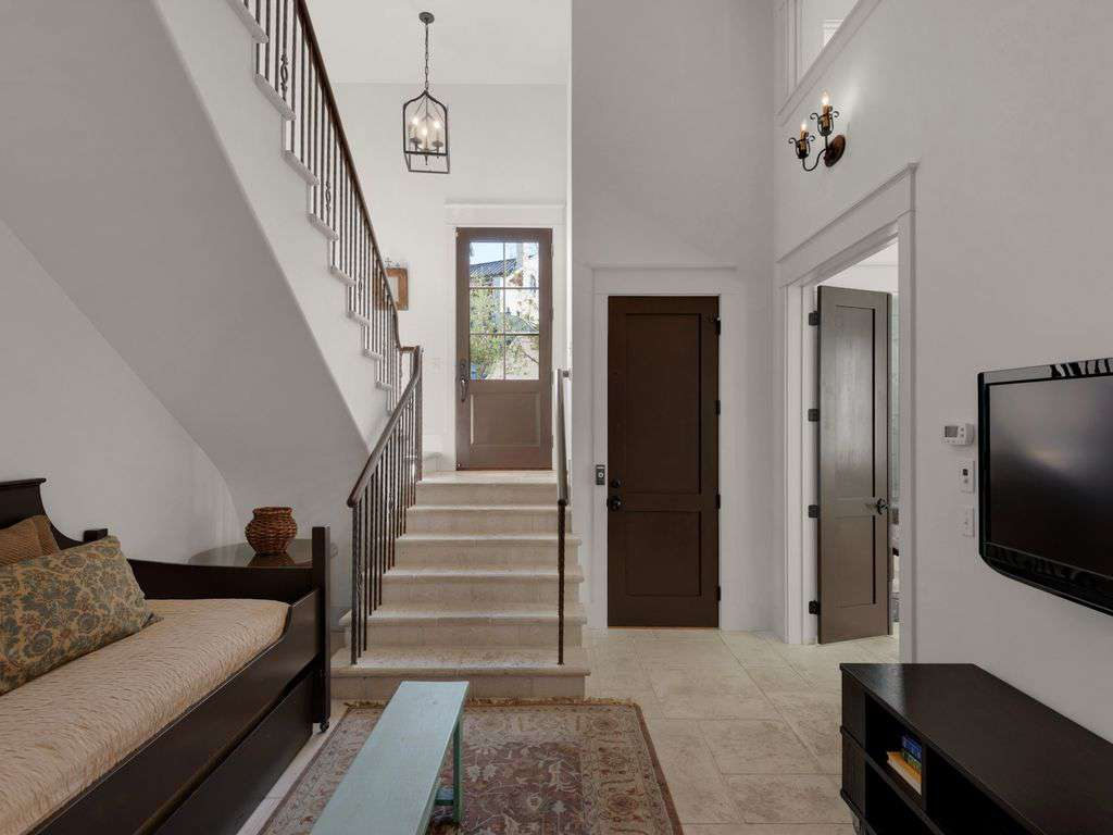 Entry to home to include first level and stairway to second level.
