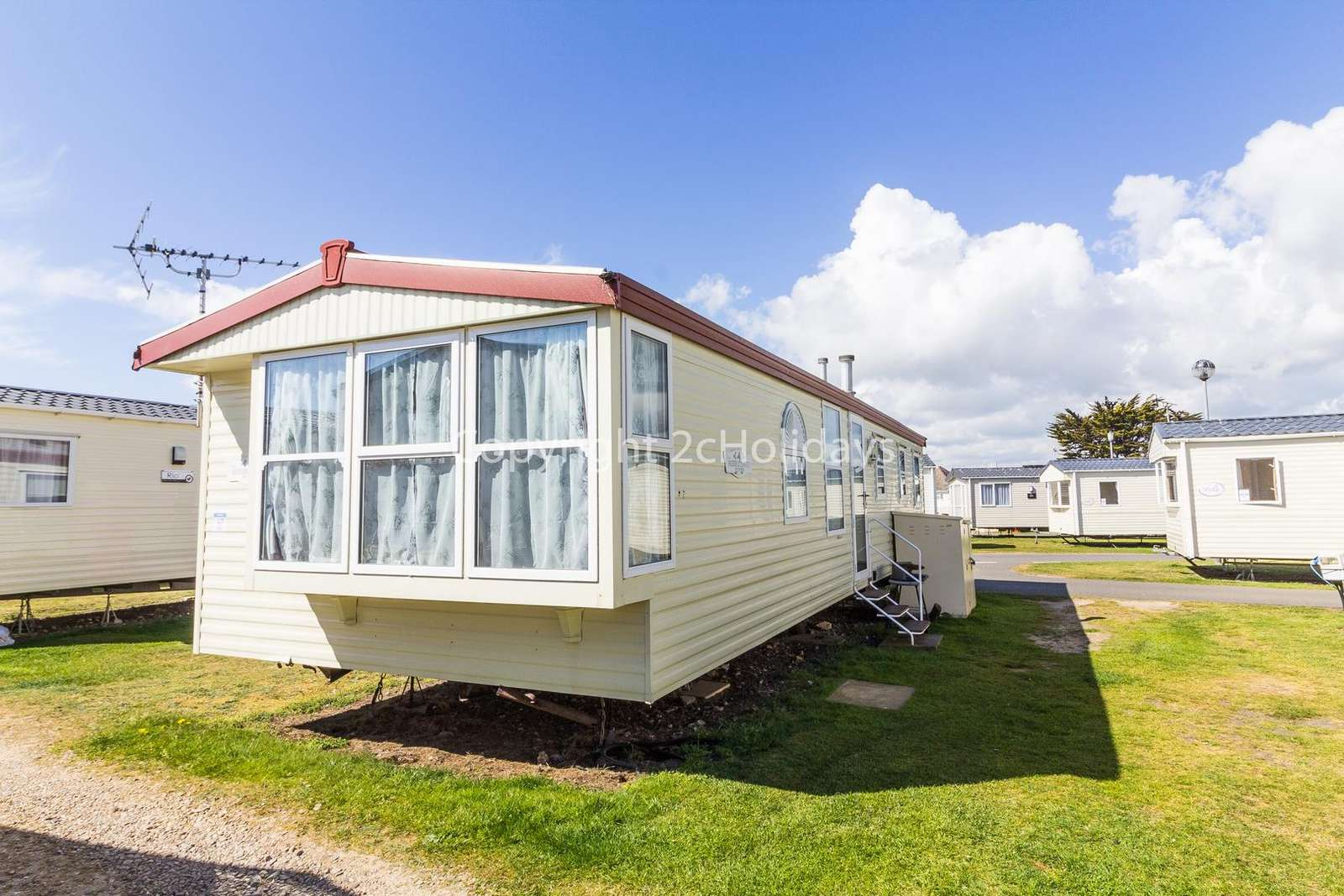 Sited on a great holiday park with a stunning beach only a short walk away