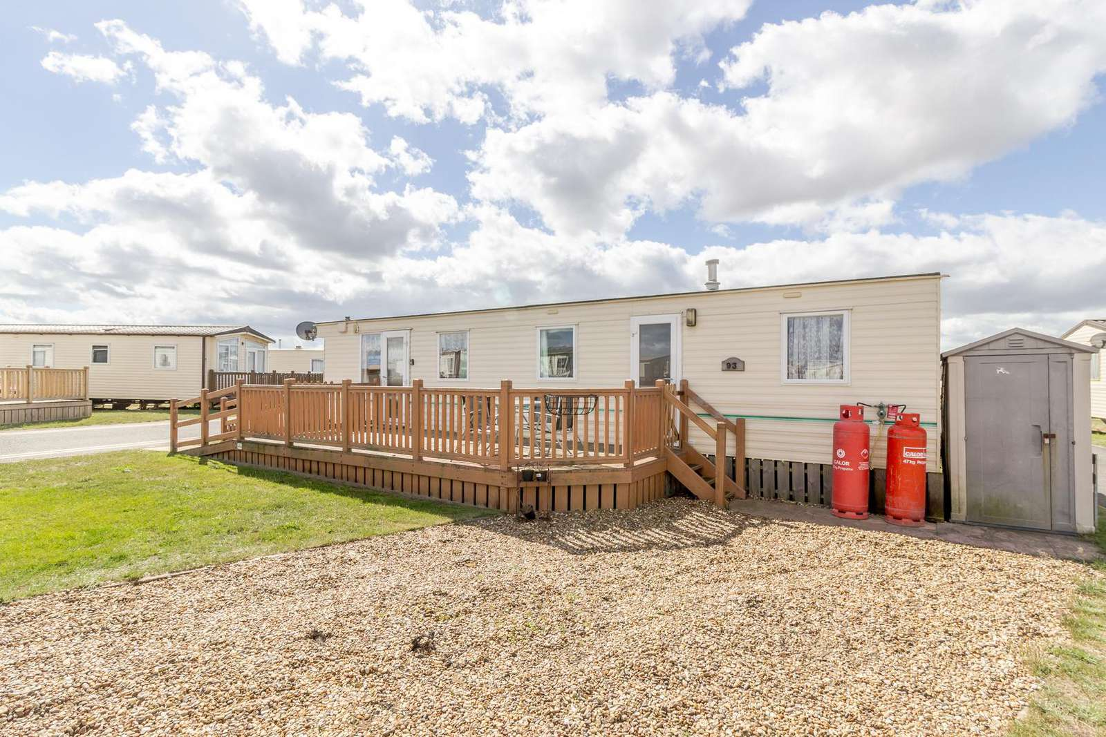 40093ND – North Denes, 3 bed, 8 b caravan with with decking. Sapphire rated. - property