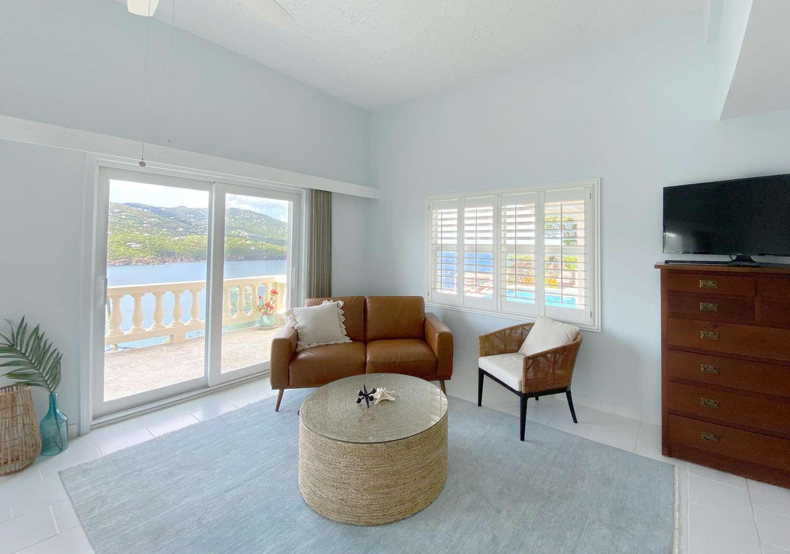 TV in the Main Living Area of Pool Level Casita Apartment