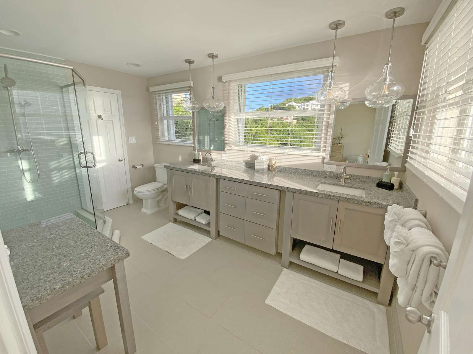 Master Bath with Double Sinks and Vanity