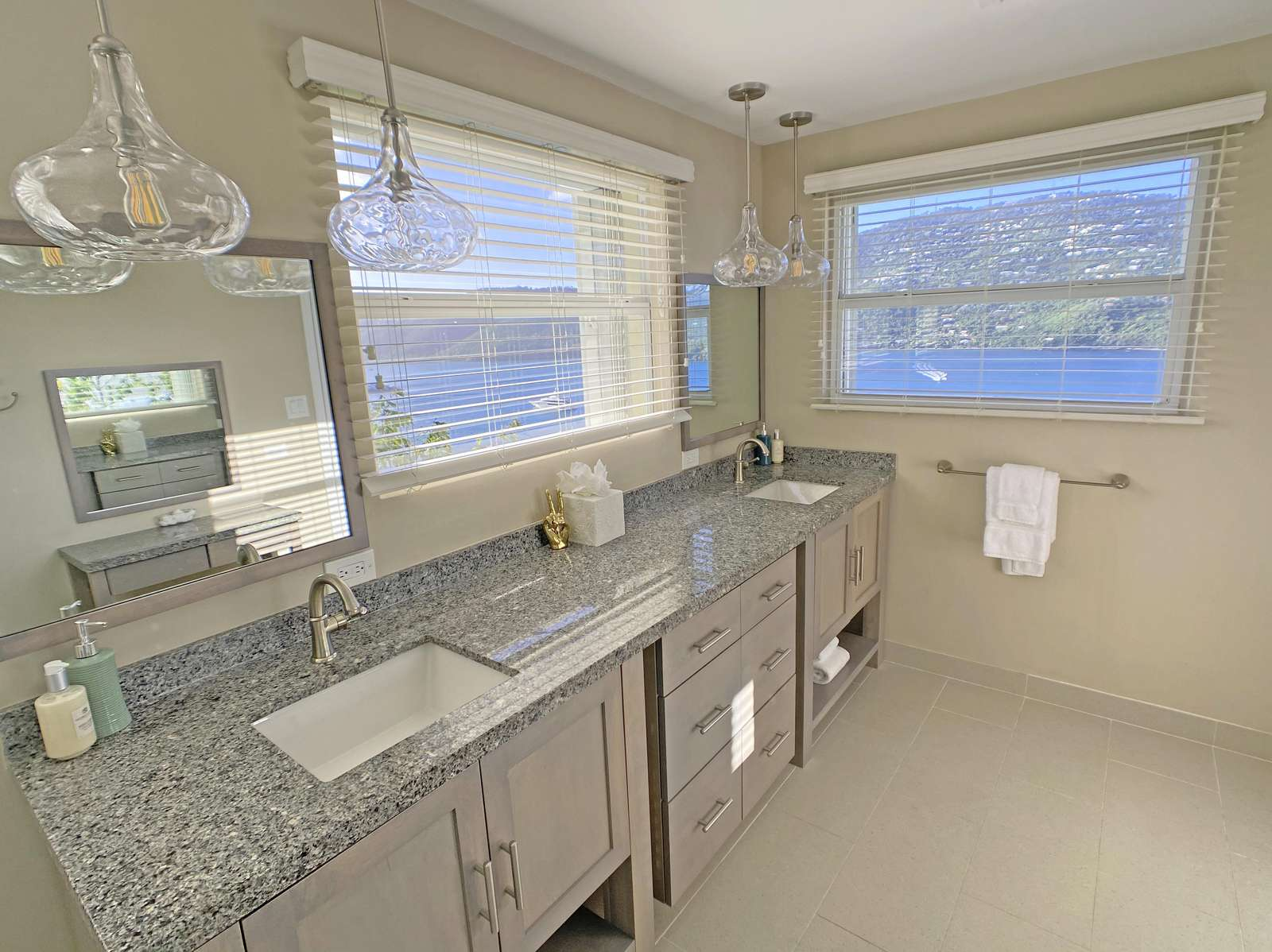 Master Bath with views of Magens Bay