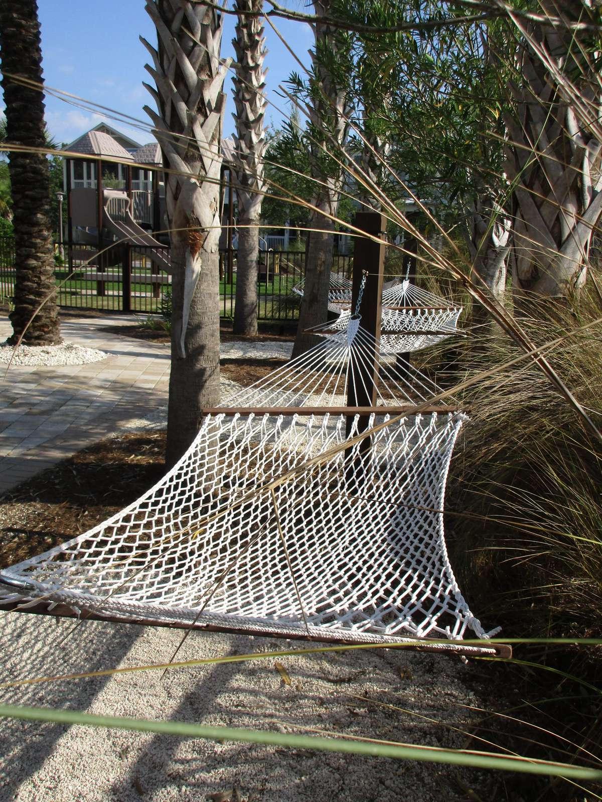 poolside hammocks