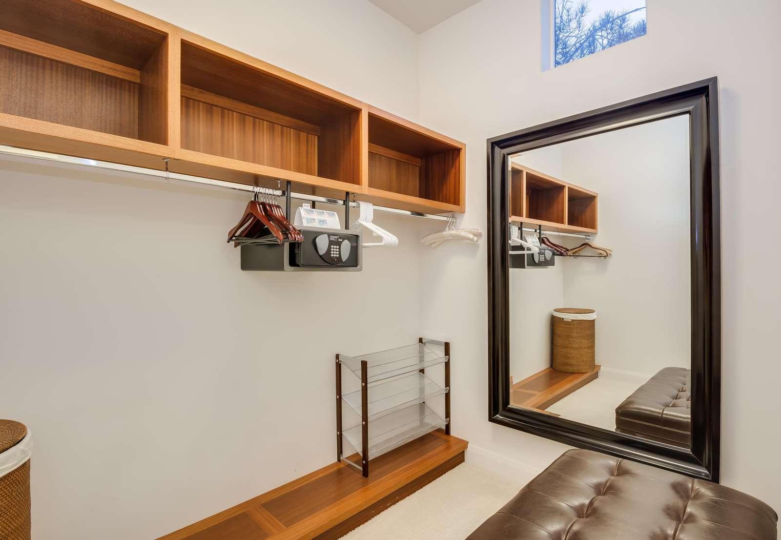 Suite 1 walk-in closet