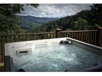 Sparkling Hot Tub is placed under the Stars, and Overlooks the Mountain Views... thumb