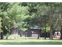 Back lawn area of Twin Oaks Cabin thumb