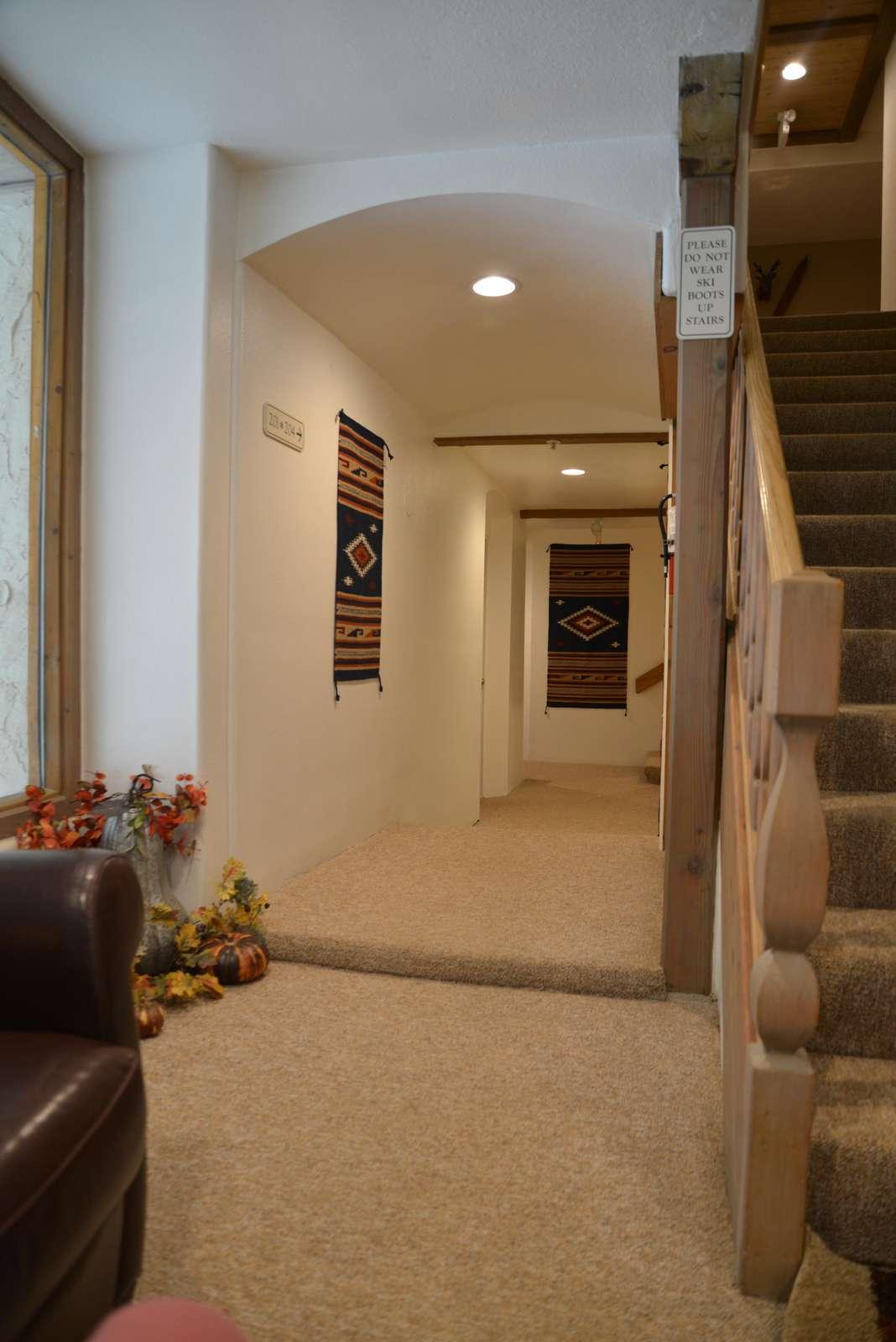 Lobby Level & Hallway/Walkway to our condo