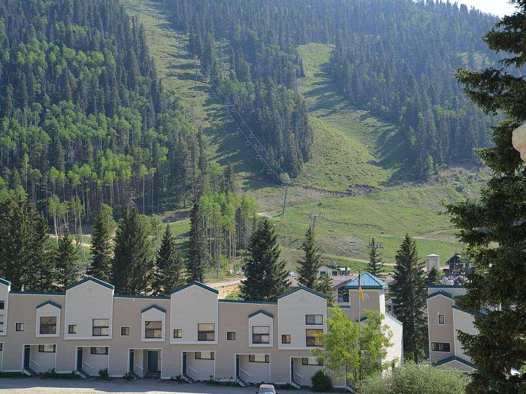 View to base ski area