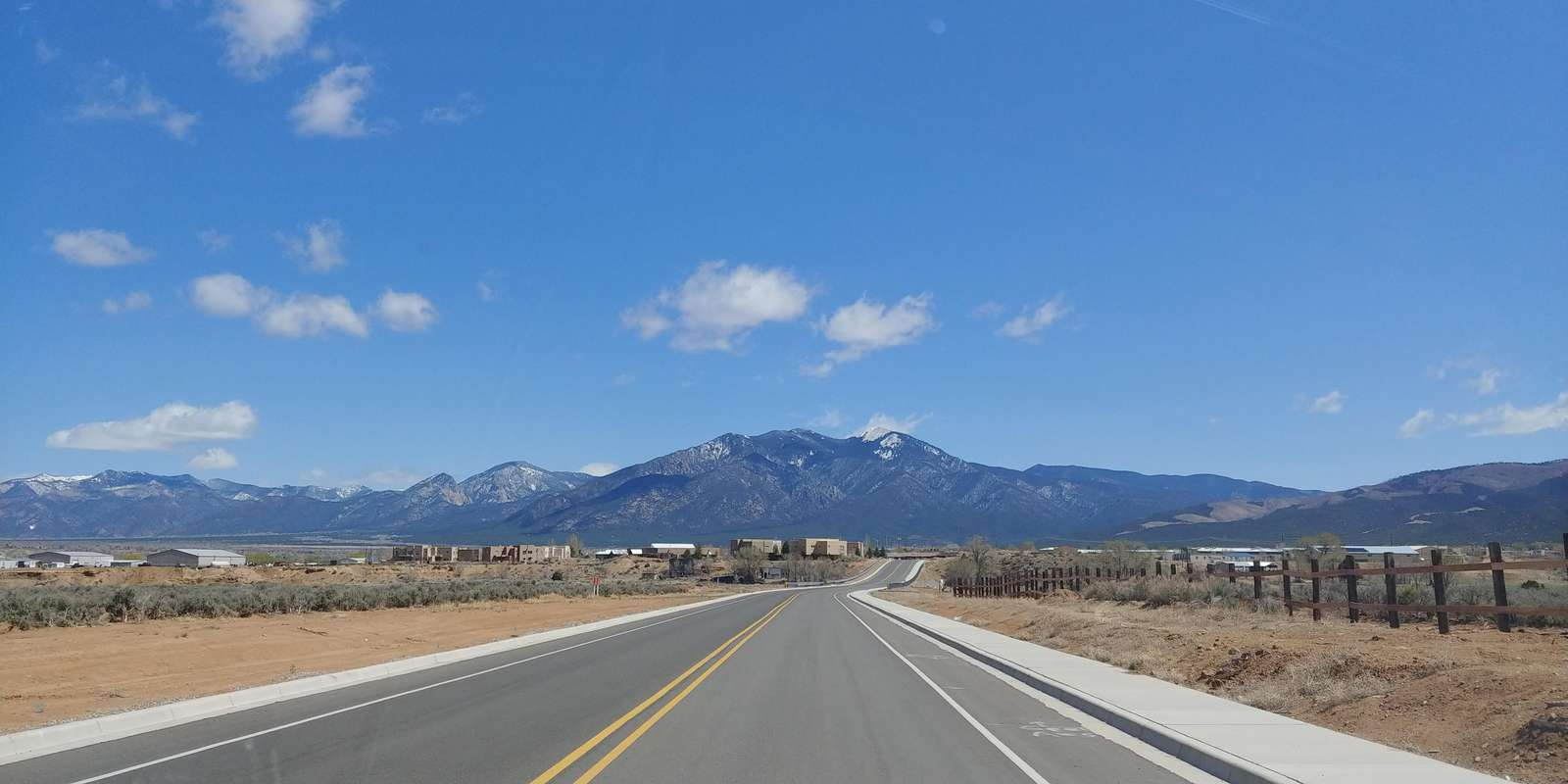 Driving up to Taos Ski Valley