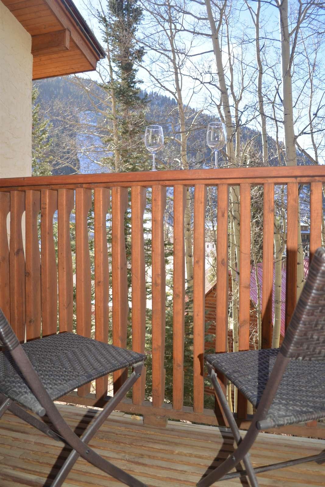 Apres Ski on the private balcony