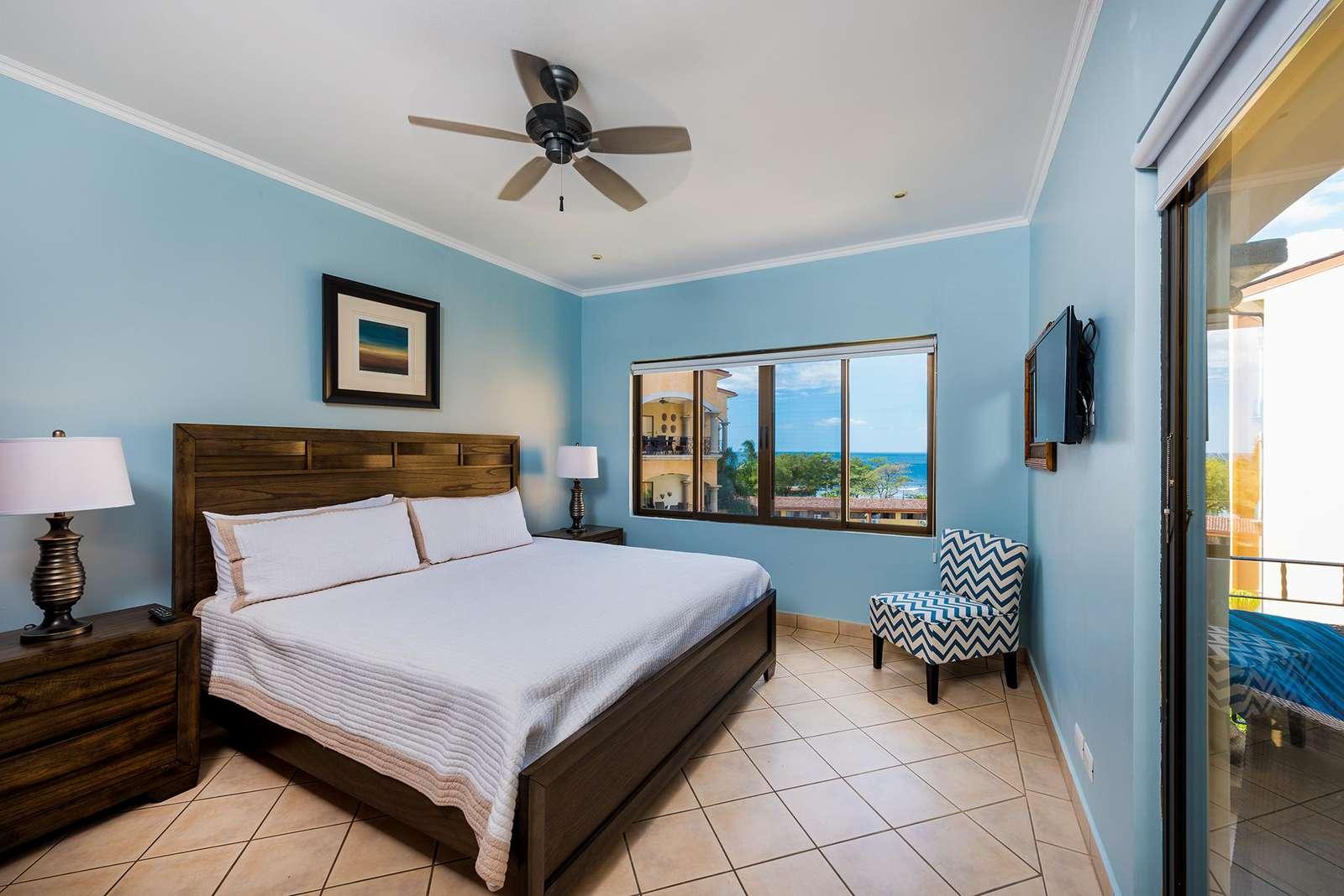 Master Bedroom, king bed, ocean views