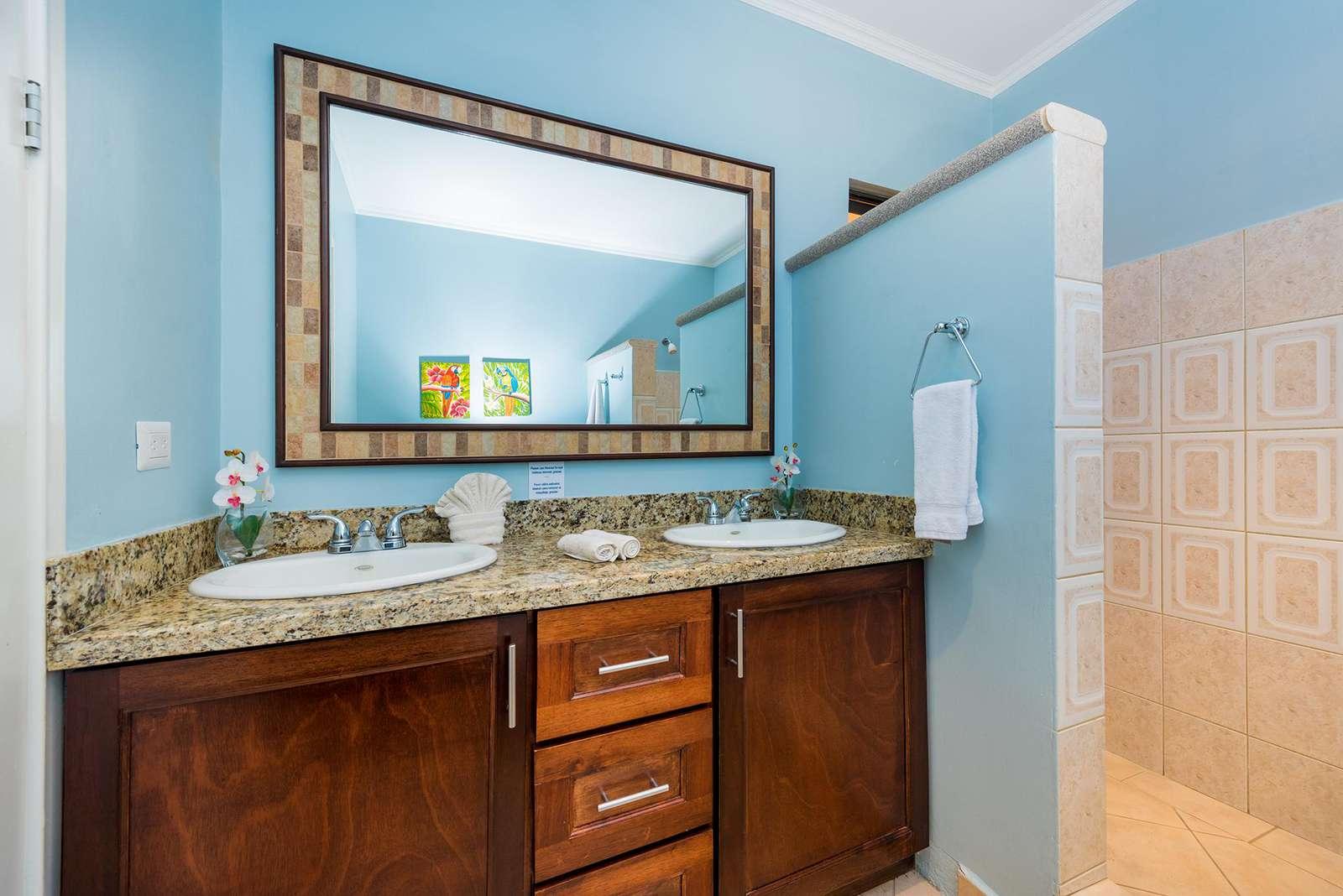 Master bathroom, dual vanity