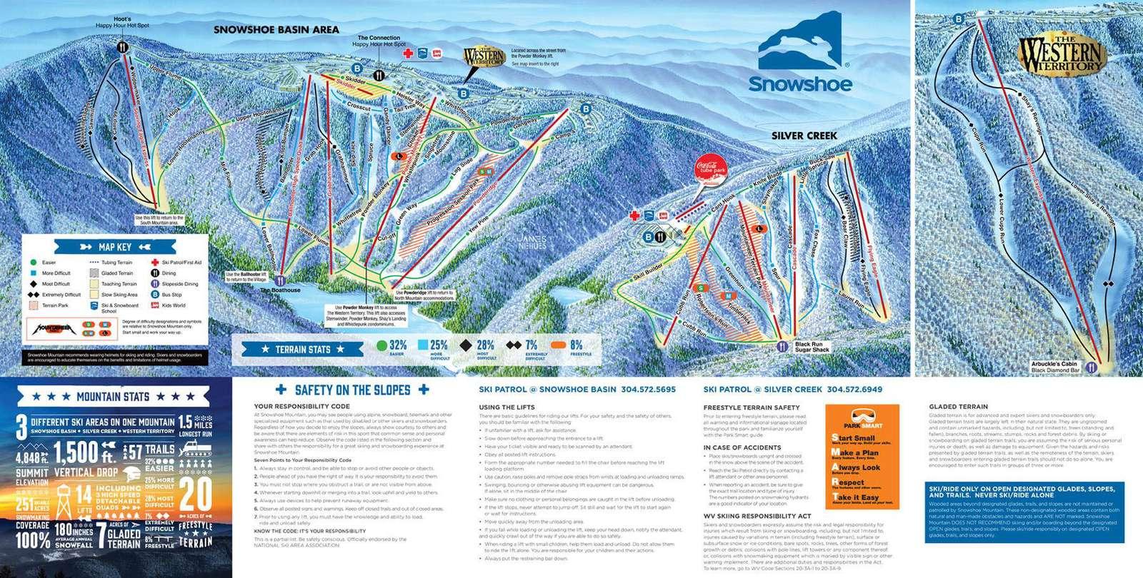 Mountain Map Slopes