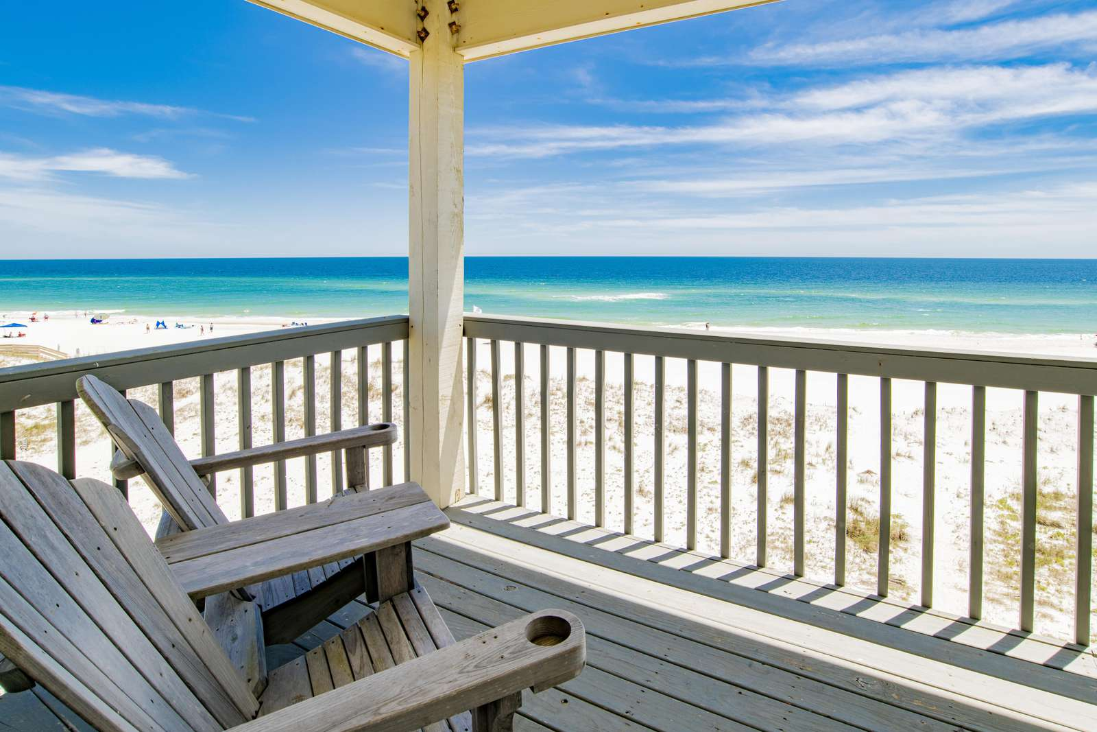 Private balcony off of 1 of 4 gulf front masters
