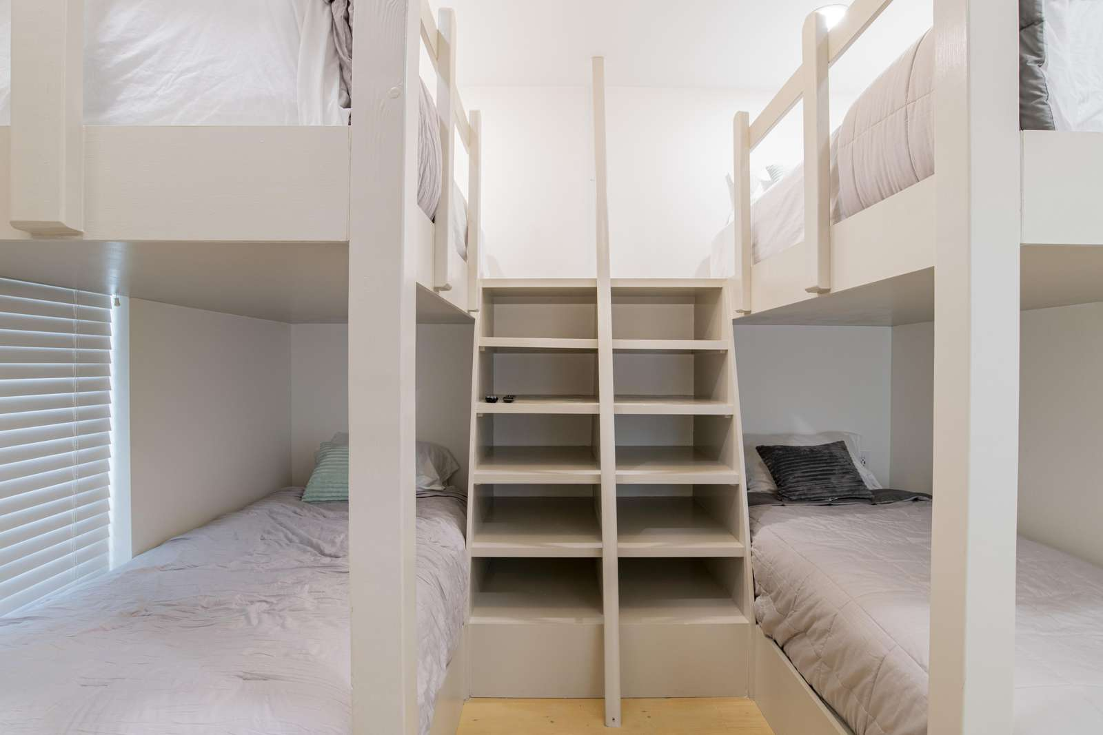 2nd bunk rooms with 4 twins XLs. Sleeps 4.