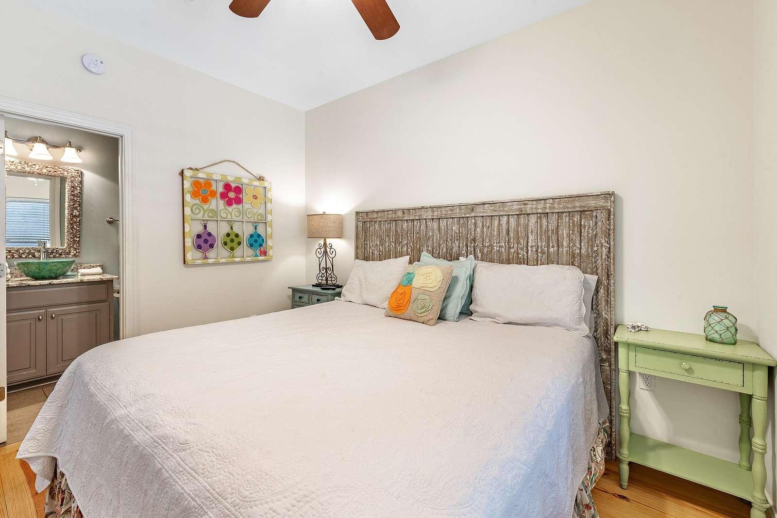 1st floor bedroom with king