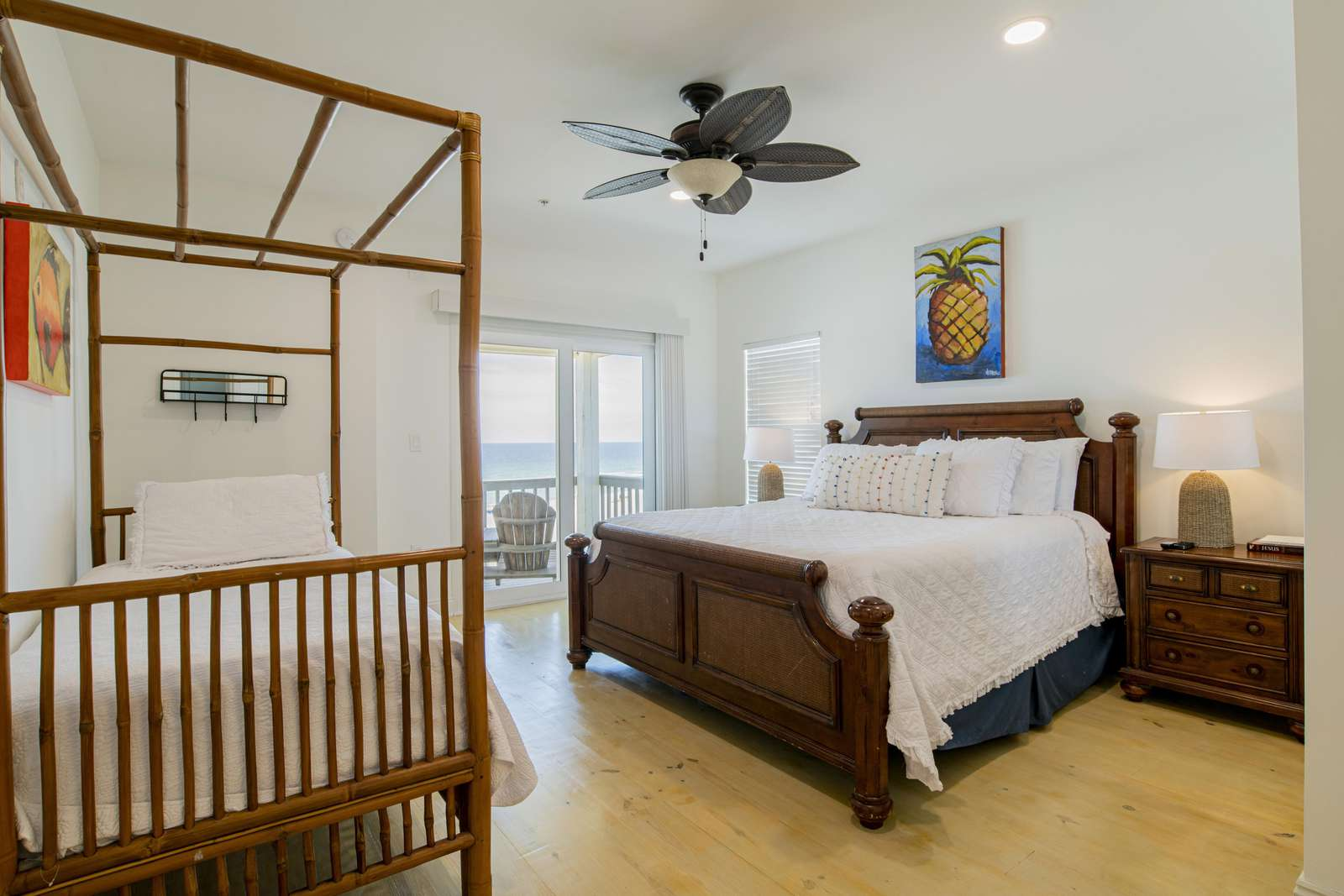 1 of 4 gulf front master bedrooms with private gulf front balcony