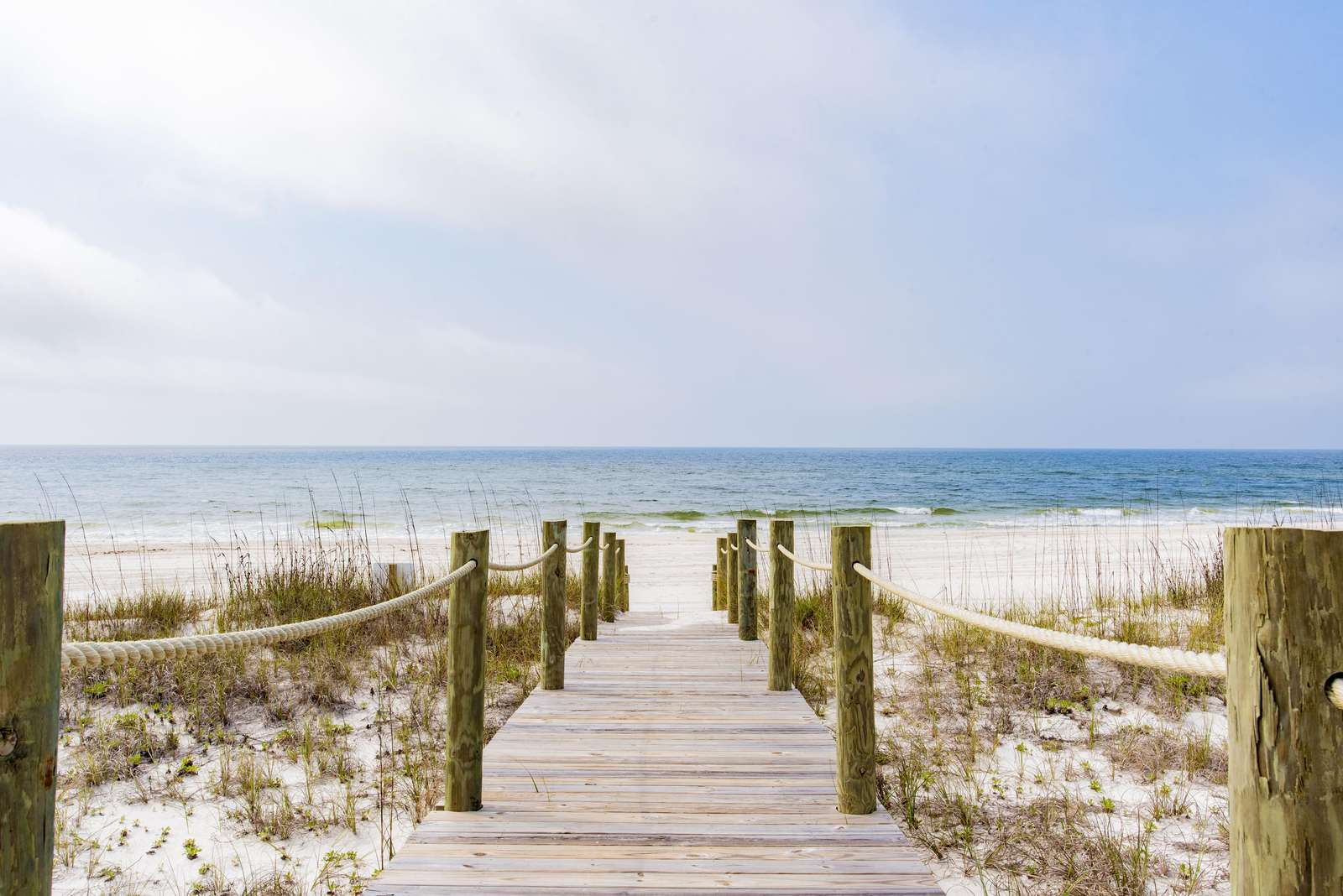 Recently added board walk to beach from house.