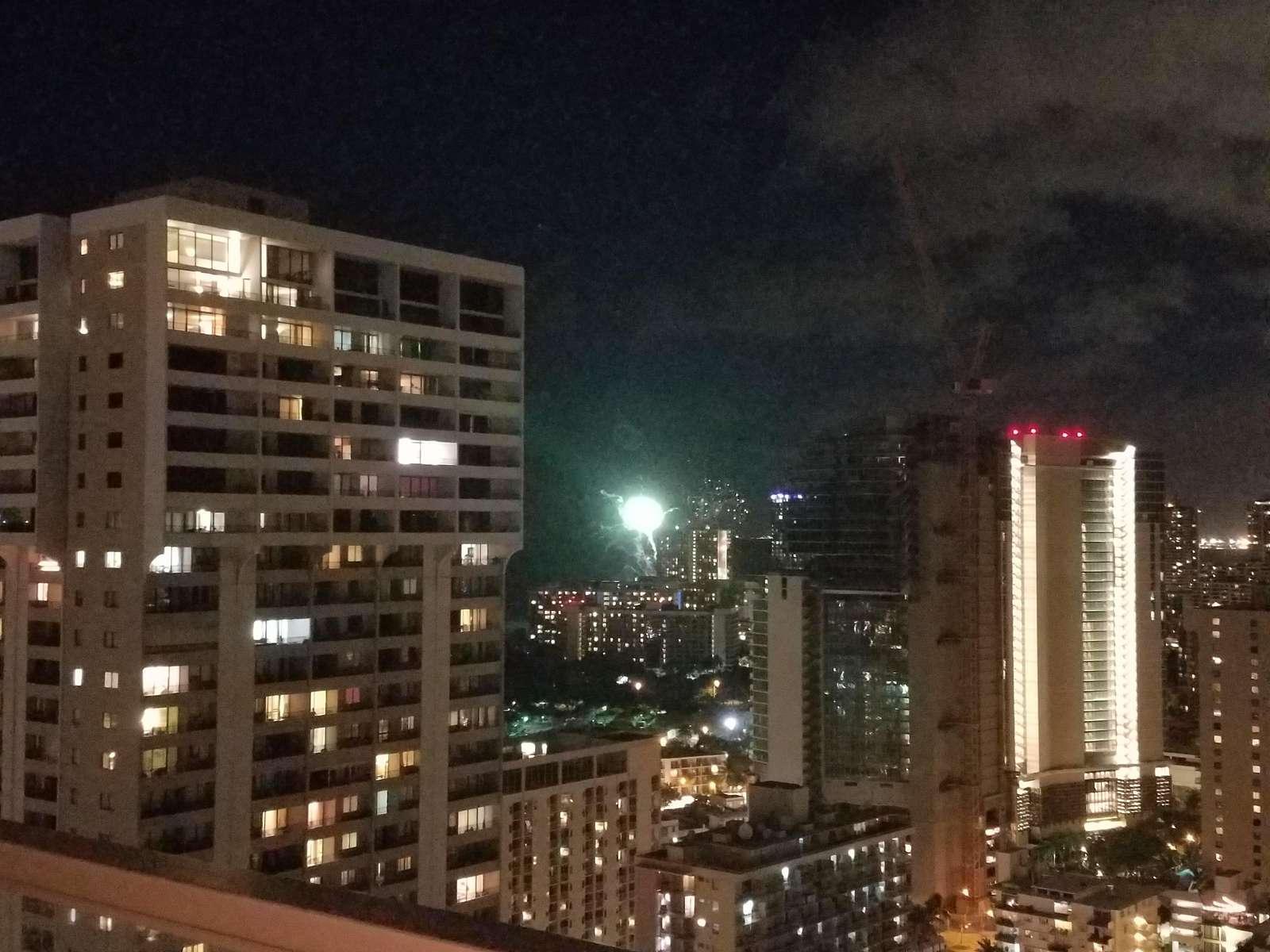 Waikiki City Night Lights