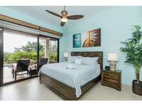 Master bedroom, king bed, smart TV, private bathroom, access to pool and terrace area thumb