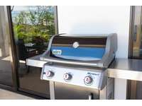 Weber BBQ gas grill on the terrace thumb