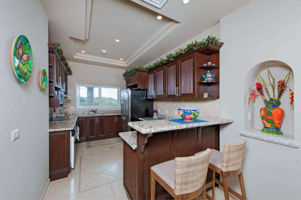 Kitchen area, fully stocked
