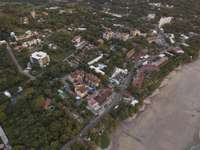Aerial view of Tamarindo town thumb