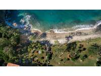 Aerial view of the semi private beach in front of Punta Plata 617 thumb