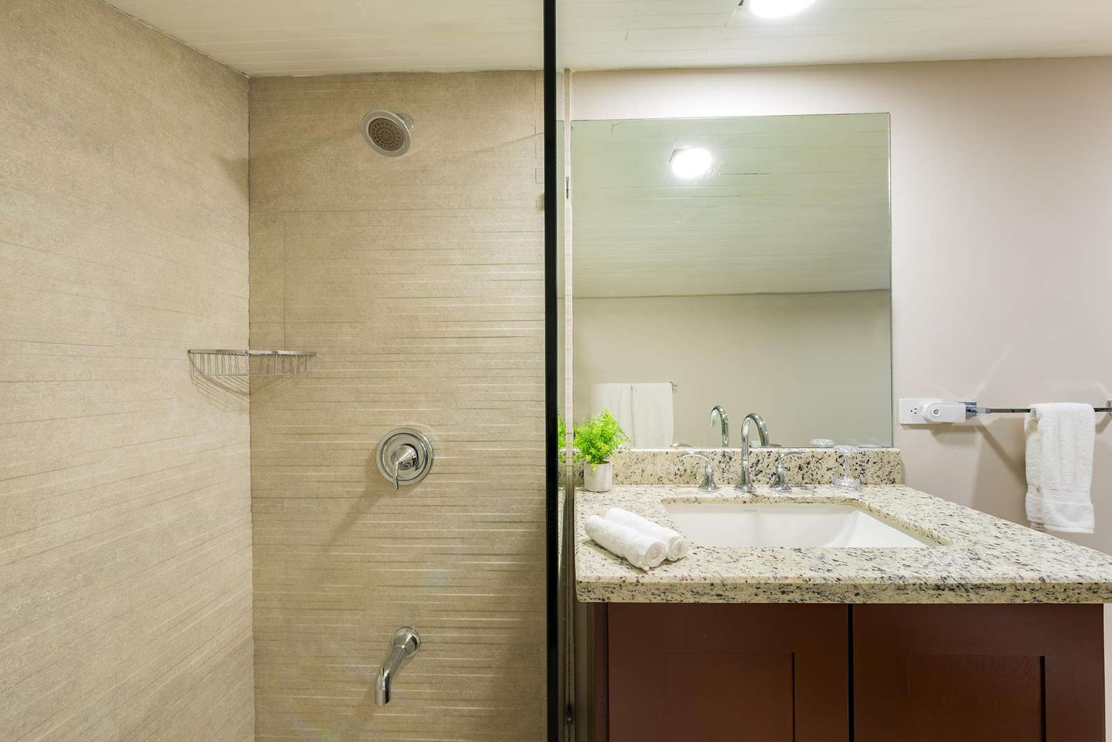 Another view of the main level guest bathroom