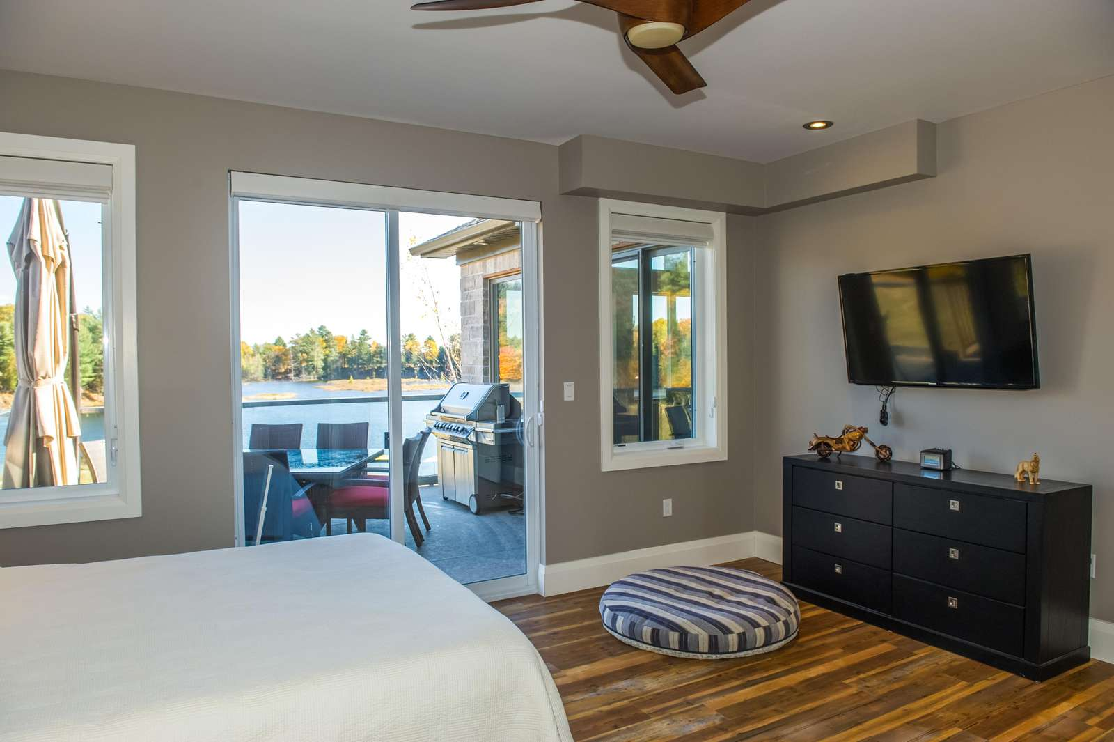 Bedroom with walkout to deck