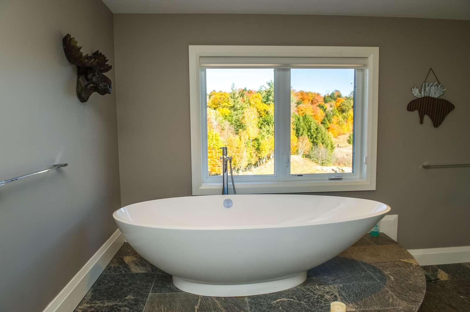 Master soaker tub with views