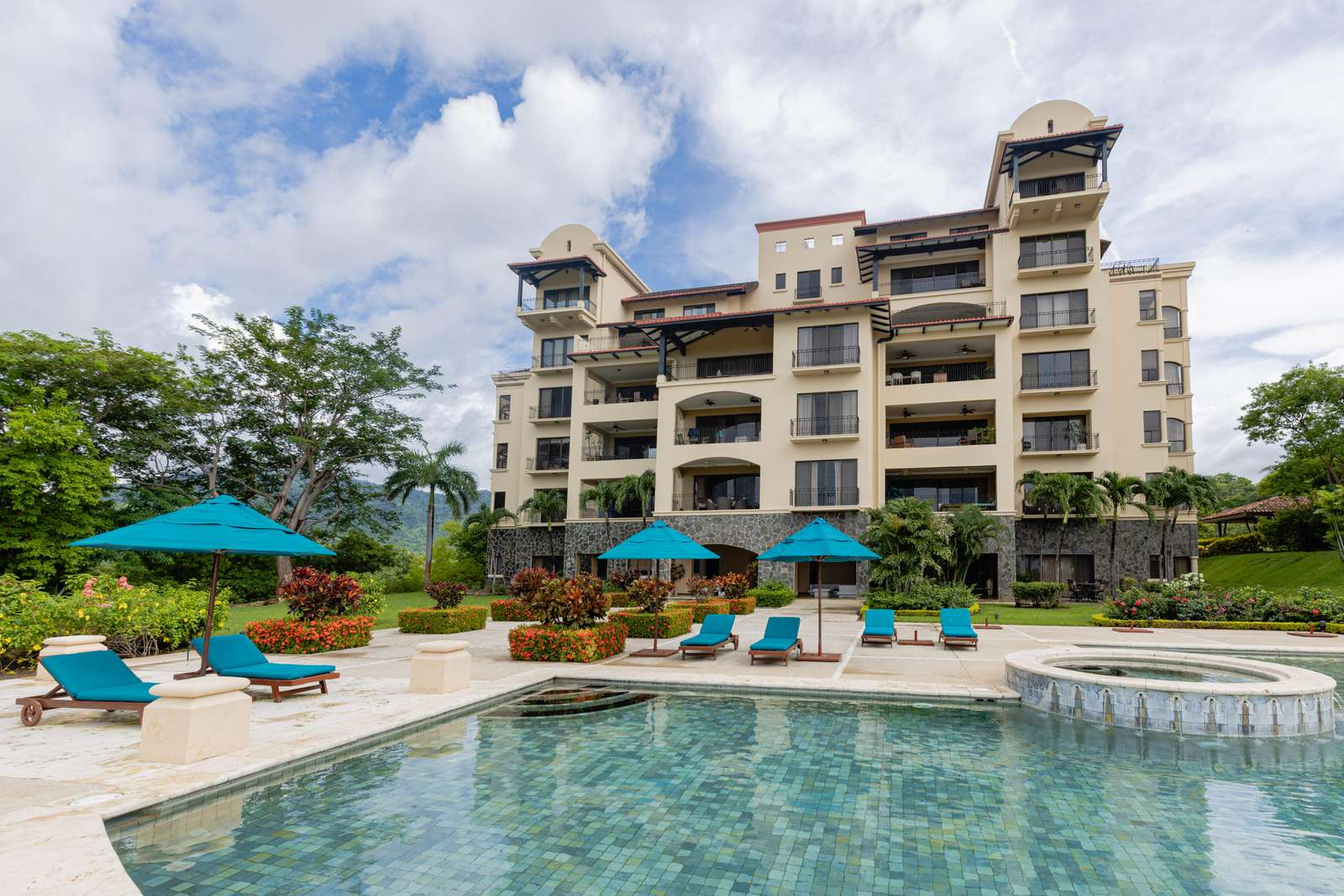 Malinche 112B, a pool level Ocean View condo at Reserva Conchal - property