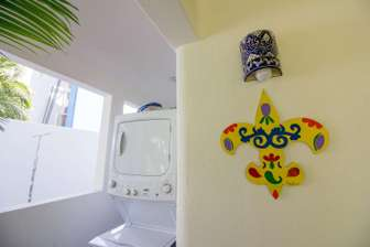 Washer and dryer unit in exterior terrace area thumb