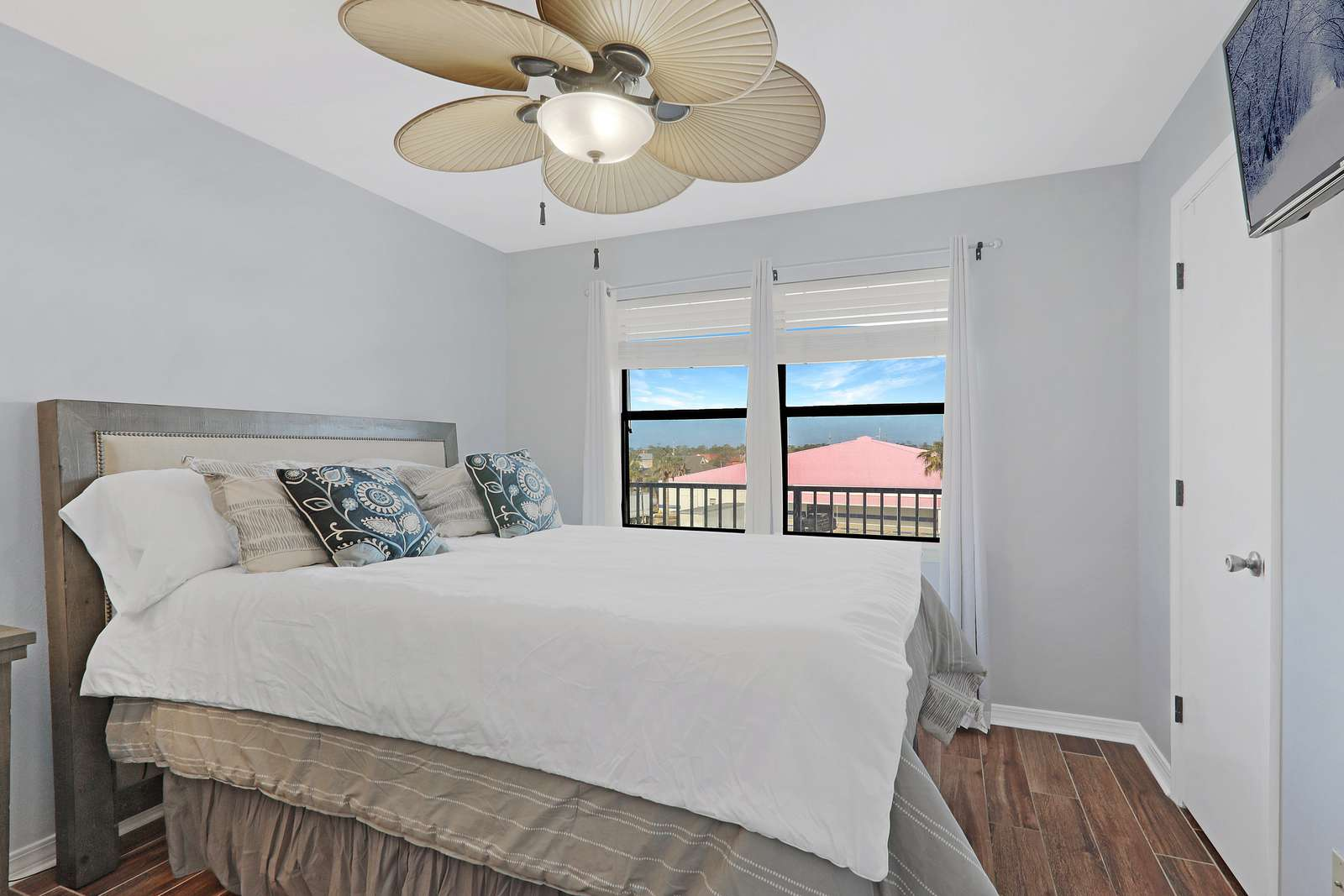 Beautiful master bedroom with fresh paint and new furniture 2021