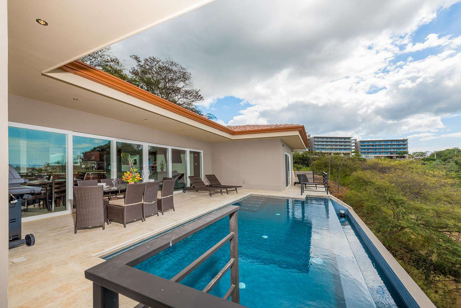 View of pool, terrace area