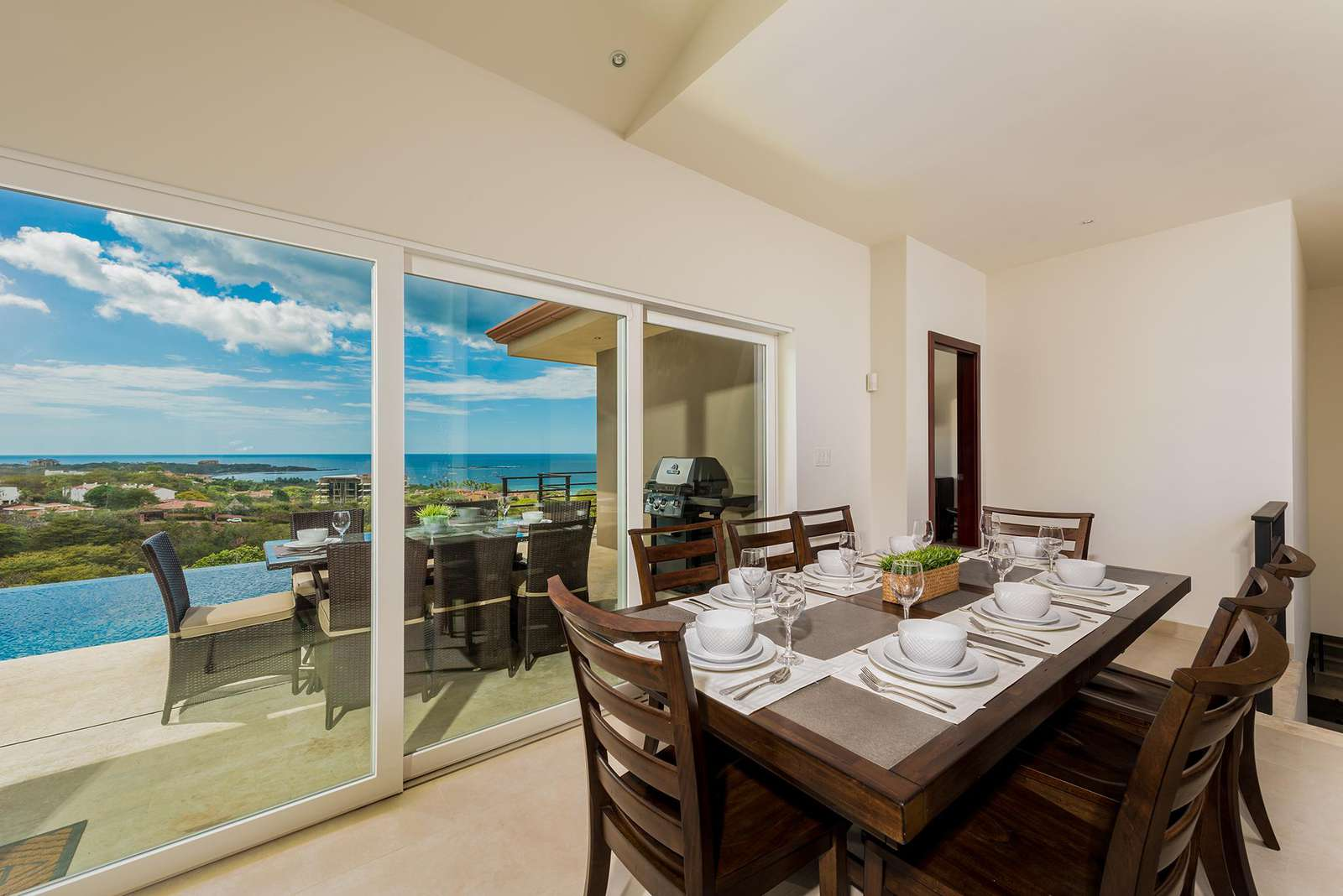 Dining area with a view