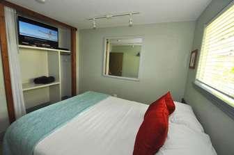 Bedroom #2 with queen bedding. thumb
