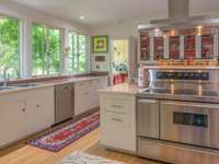 Kitchen with views of the grounds thumb