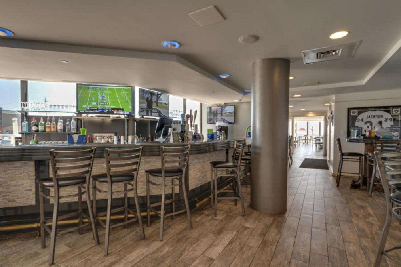 Inside Royal Palm Grille entry
