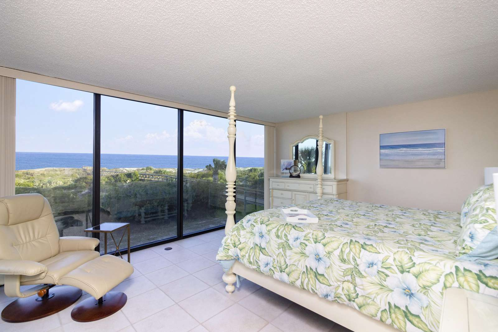 Master Bedroom with  Great Oceanfront Views!