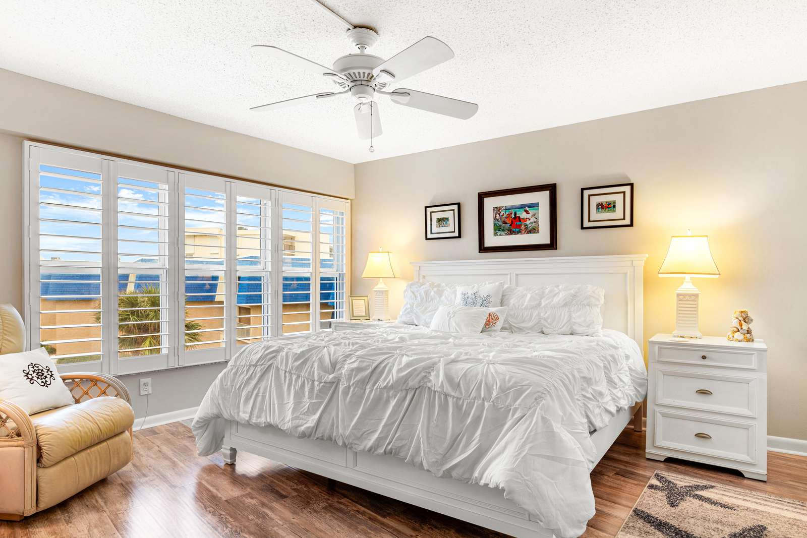 Watch the sunrise from the master bedroom!