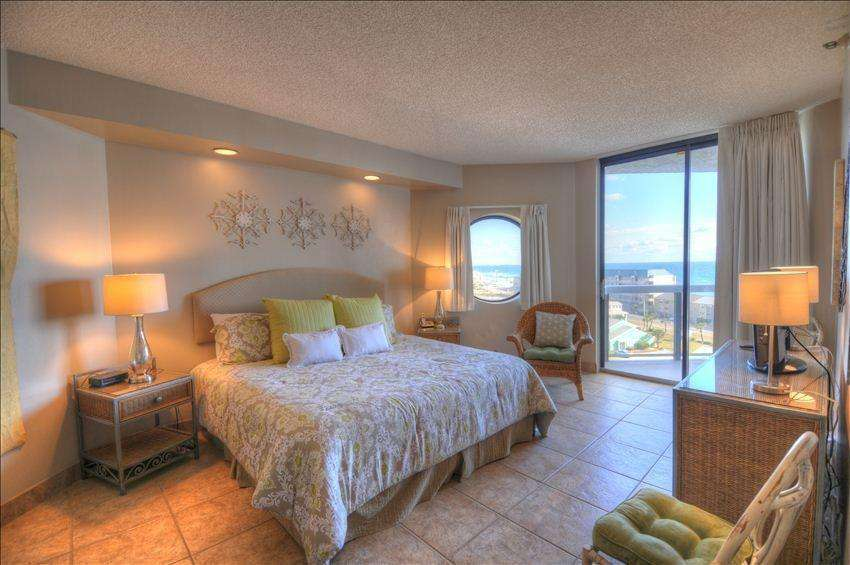The large master bedroom is gorgeous!