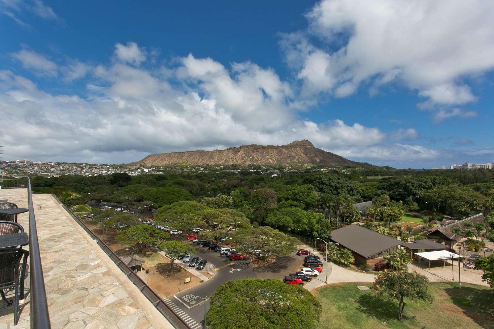 Thats Honolulu Zoo just ahead of us.