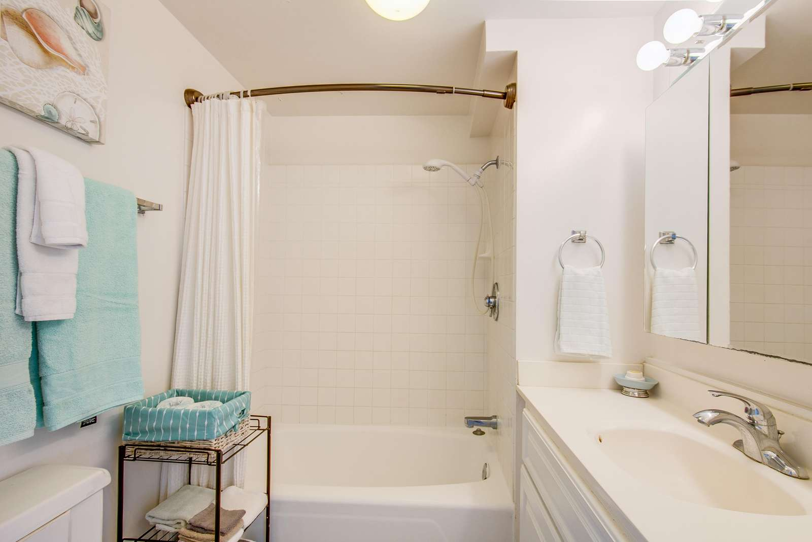 Bright and clean bathroom