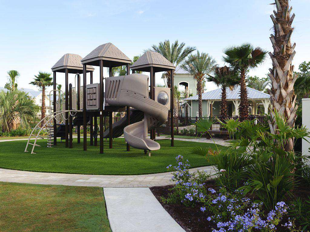 playground next to pools