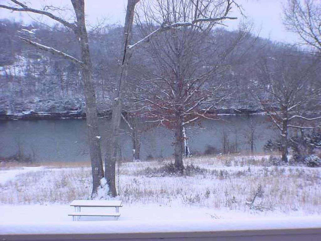 Winter lake view from the deck.