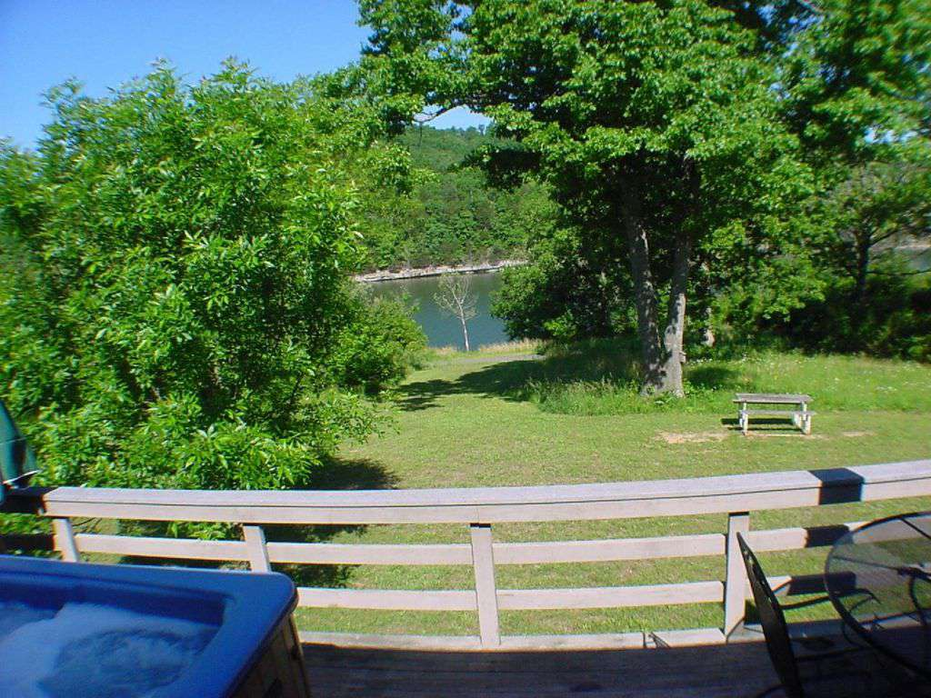 Private six-person hot tub and lake view from the deck!