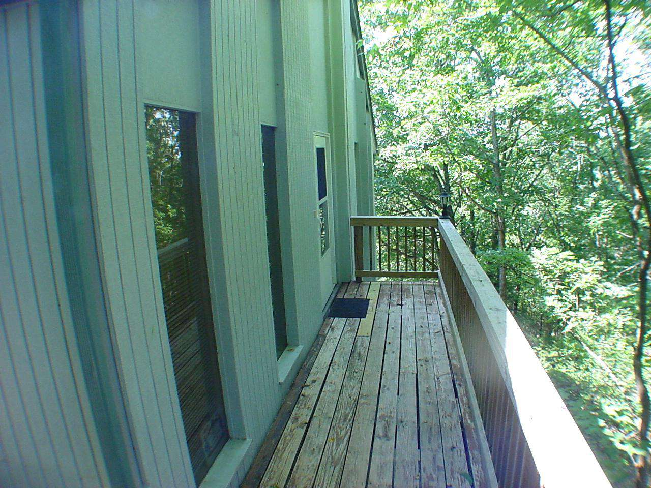 Front door entrance deck