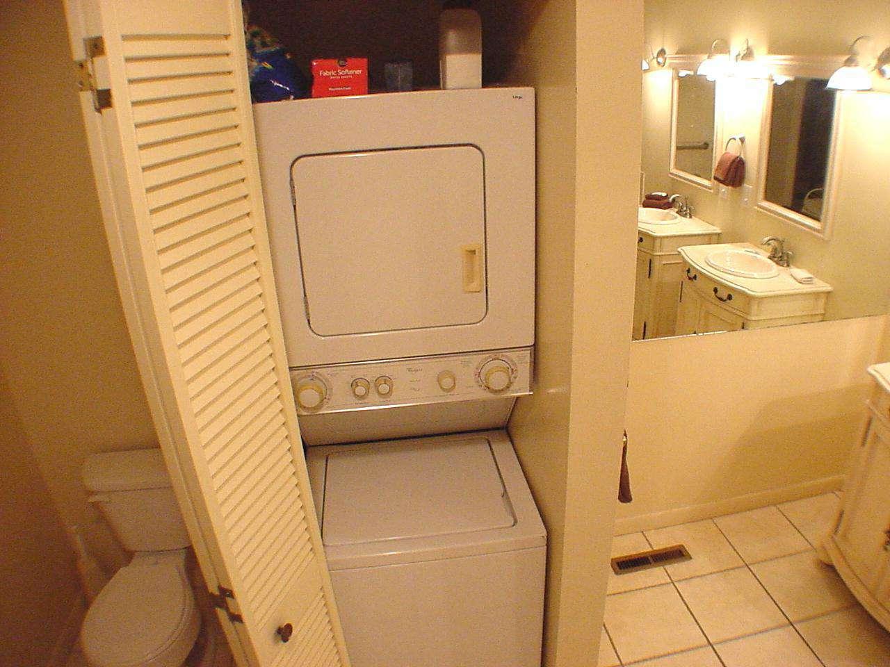 Washer/Dryer closet in master bathroom